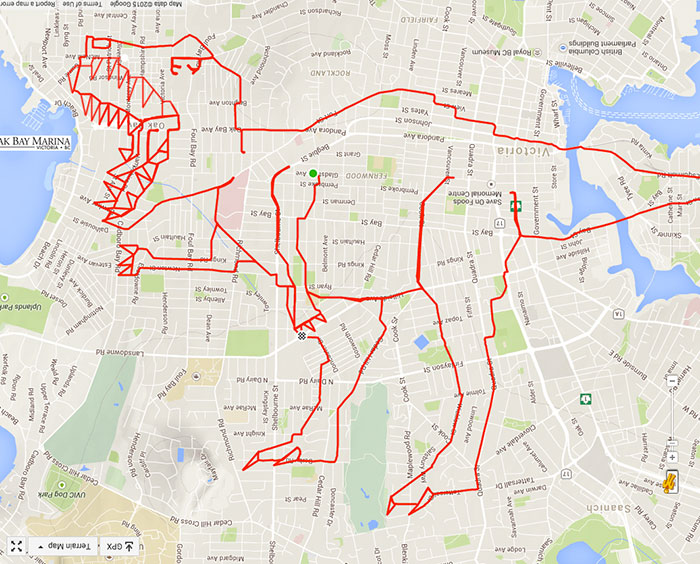 T-Rex missing some teeth (39.4 km, 1 h 43 min)