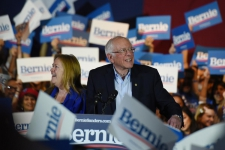 >Sanders projected for decisive win in Nevada, Biden on track for second place