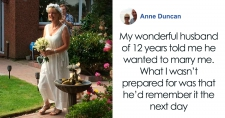 >Husband With Dementia Proposes To His Wife Of 12 Years And They Have The Sweetest Ceremony In Their Backyard